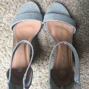 Sparkly Zip Up Heels